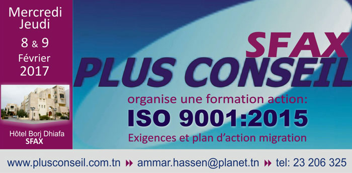Formation Action Sfax ISO 9001:2015